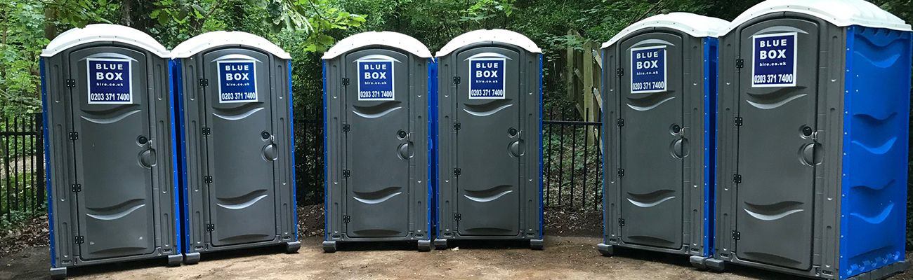 portable toilet from blue box hire